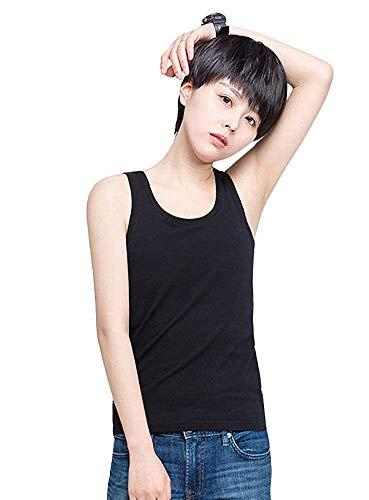 (シェープリー)Shapely ナベシャツ レディース トラシャツ 胸つぶし タンクトップタイプ 3列7段フック&ゴム ブラック M