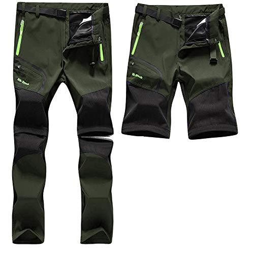 SANMIO Pantalones Aire Libre de Hombre Convertible Pantalones Cortos Trekking Senderismo Secado...