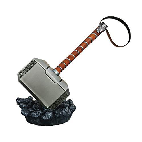 Swords and more Thor Hammer aus Stahl mit Ständer
