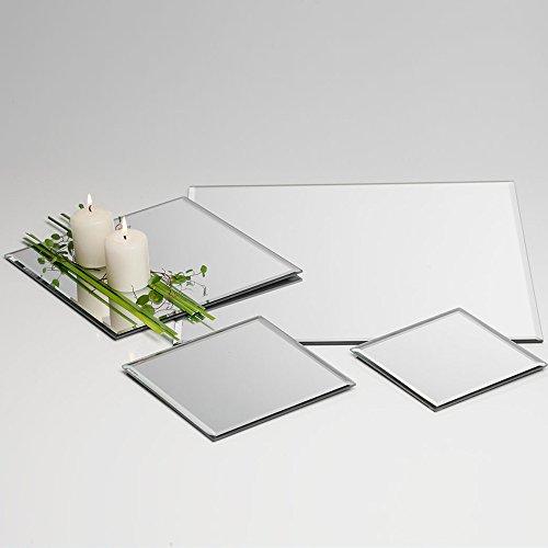 Sandra Rich E.9 Plateau Miroir carré 15 x 15 x 0,5 h