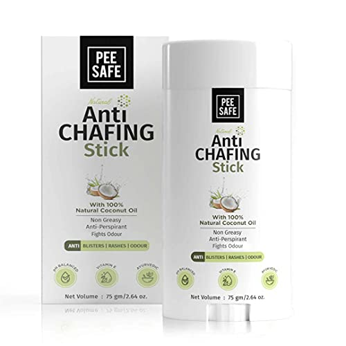 Pee Safe Anti Chafing Stick | Relief from Itching and Irritation | For Blisters, Rashes & Odour | With 100% Natural Coconut Oil | Paraben and Silicon Free (75gm)