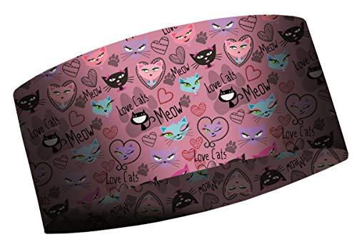 MATT - Kids Coolmax Headband Winter - Kinder Stirnband mit tollen Mustern, Farbe MA:LoveCats
