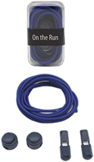 On The Run Premium Elastic No Tie Shoe Laces with Lock Laces Mechanism For Everyday Use, Running and Active Sports