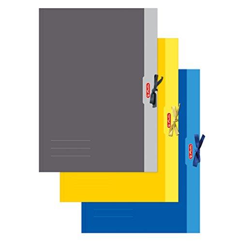Herlitz 448209 Sammelmappe A2 Chromoduplex, 500 g/qm, 1ne Mappe erhältlich in den Farben: gelb, grau, blau