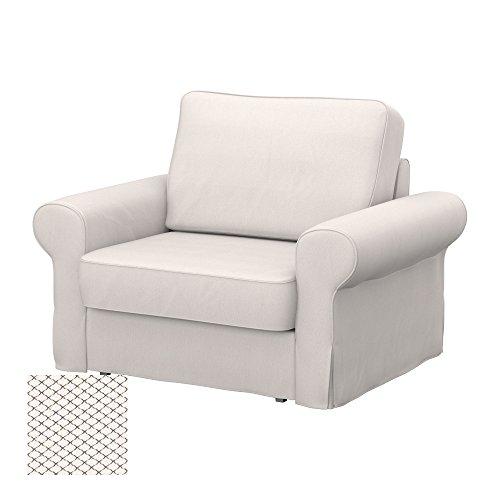 Soferia - IKEA BACKABRO Funda para sillón, Nordic White