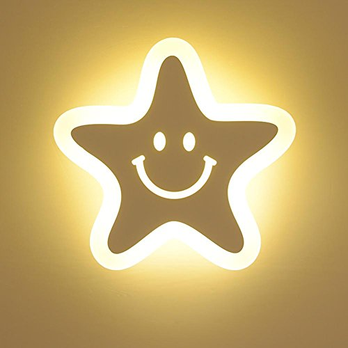 XG Lámpara de Pared LED de acrílico 23w Lámpara de Pared Decorativa de Cama Infantil Creativa
