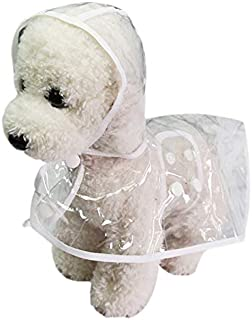 Smoro Impermeables para Perros Mascotas Poncho con Capucha Cachorro de Perro Mascotas Ligeras Impermeables Peluche Transparente Poncho de pl/ástico Impermeable para Perros peque/ños y medianos