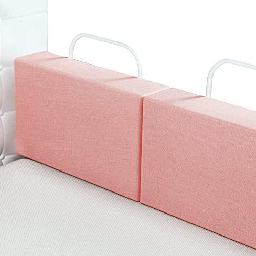 Sponda del letto per bambini piccoli, paracolpi per lettino in schiuma per bambini Protezione per il sonno portatile sul comodino, barriera di sicurezza per bambini Protezione del b(Size:60cm,Color:2)
