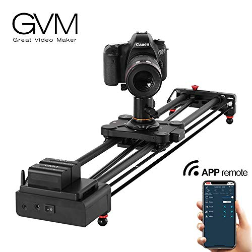 """Motorized Camera Slider Track Dolly Sliders Rail System with Motorized Time Lapse and Video Shot,with Remote Controller,120 Degree Panoramic Shooting 31"""" 80cm"""
