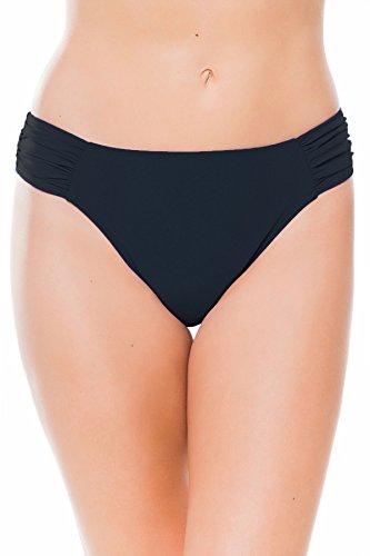 Profile by Gottex Women's Side Tab Swimsuit Bottom, Tutti Frutti Black, 10