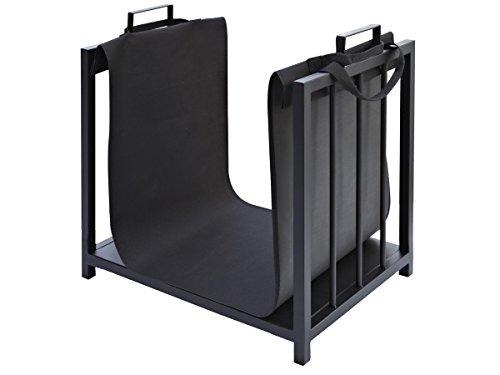 Holzkorb mit Textilüberzug Kaminofen Elegant Modern Praktisch Einfache Lagerung 4164