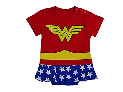 Traje infantil inspirado en Wonder Woman. 0-6 meses
