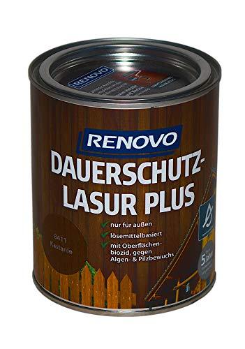 0,75L RENOVO Dauerschutzlasur 8411 Kastanie Lasur Holzlasur