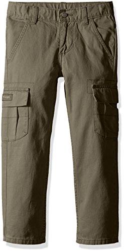 Wrangler Authentics Boys' Classic Cargo Pant, olive, 12