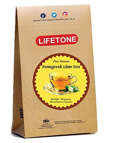 Lime Fenugreek Tea | Garden Fresh Spices Blend | Herbal Detox Tea Bags For Immune Support (20 Teabags)