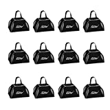 Eastar Cow Bell Set 12-Count Loud Bells with Handles Black Cowbell Bulk 3 Inch, Mini Bells, Noise Makers for Sporting Events, Football Games, Wedding Use, ECB-001B