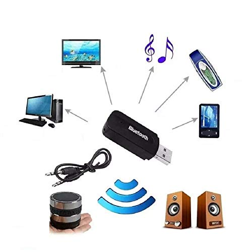 Techgadget Wireless USB Bluetooth Receiver Adapter Dongle for Home Theatre Car Speakers MP3 (N-1215)
