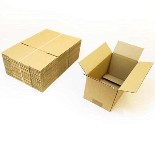 Faltkartons, 240 x 130 x 130 mm, 25 Stück | Kleine Kartons aus Wellpappe | Ideal für Warensendungen