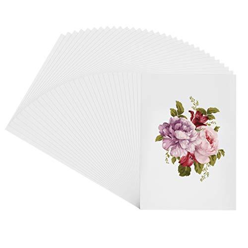 Papel Transparente Blanco Origami, Papel para Blanco Papiroflexia, 40 Hojas Blanca Origami Papel, Papel Colores Manualidades, Cartulinas de a4 Para Proyectos de Artes y Oficios