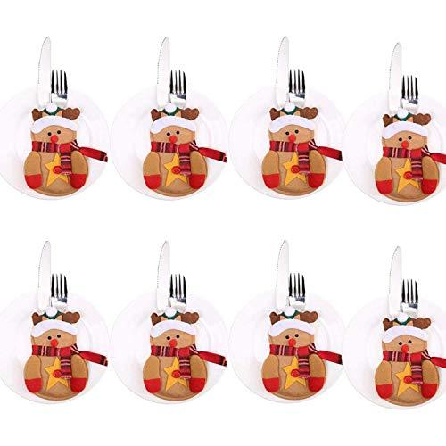 Rainbowstars 8 stks Xmas Set Bestek Pak Decor Tafeldiner Silverware Houders Zakken Messen Vorken Tableware Tassen Kerstmis Party Decoratie voor Home Restaurant Eetkamer Elk