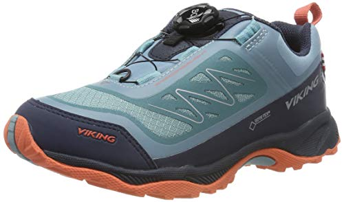 viking Unisex-Kinder Anaconda Light BOA JR GTX Trekking- & Wanderhalbschuhe, Blau (Navy/Bluegreen 547), 38 EU