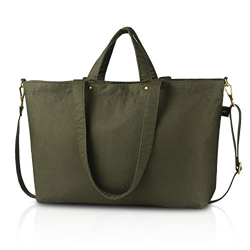 BONTHEE Große Shopper Tasche Schwarze Handtaschen DamenSchultertasche Grün - XXL
