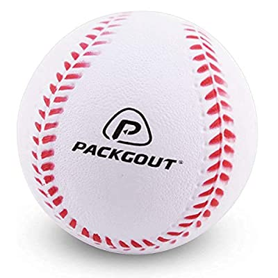 PACKGOUT Soft Baseballs, Foam Baseballs for Kids Teenager Players Training Balls (6pk/8pk/12pk), Reduced Impact