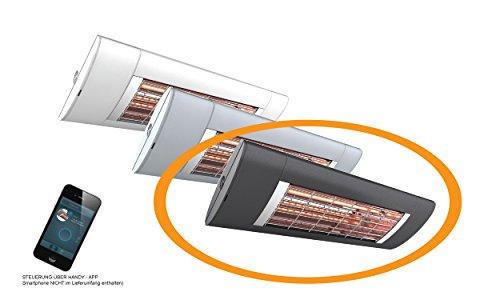 SOLAMAGIC infrarrojos S2, 2500W, control Teléfono App–Antracita