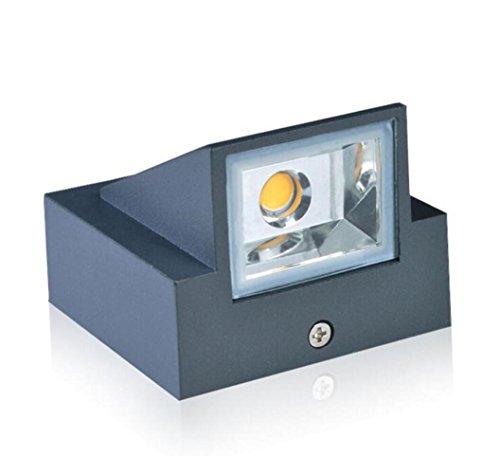 Extérieur Imperméable À l'eau (IP65) Lampe Murale, Lampe De Jardin en Aluminium Épais Moderne Minimaliste De Haute Qualité Lampe Spéciale, AC90-265V 3W