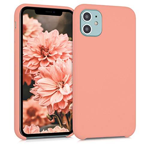 kwmobile Funda Compatible con Apple iPhone 11 - Carcasa de TPU para móvil - Cover Trasero en Coral