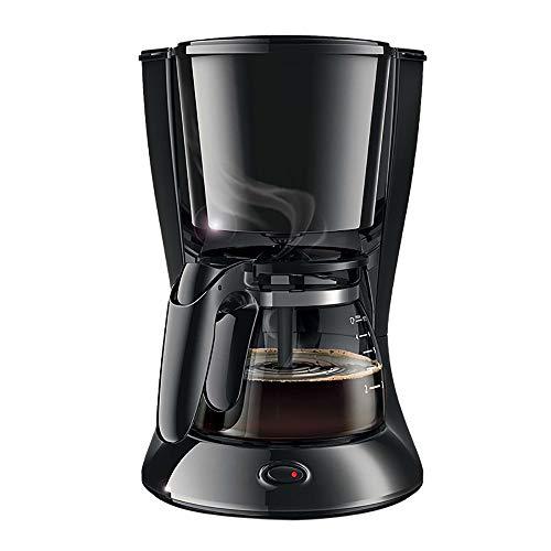T-C Bean Cup Filterkaffeemaschine Kaffeevollautomat, Kaffeemaschine Haushalt Tropf automatisches Klein Kaffeemaschine 7 Cups Filter-Kaffeemaschine mit Kaffeekanne 600ml 600ml, 590W warme Funktion