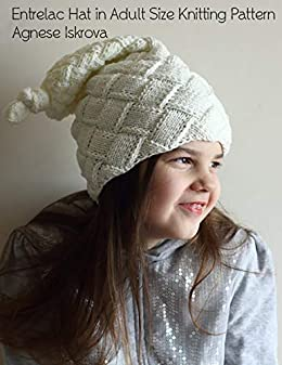Entrelac Hat in Adult Size Knitting Pattern
