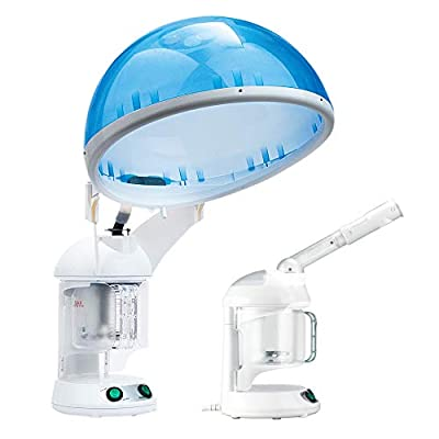 Hair Steamer EZBASICS 2 in 1 Ion Facial Steamer, Hair Humidifier Hot Mist Moisturizing Facial Atomizer Face Hydration System Sprayer, Design for Personal Care Use At Home or Salon