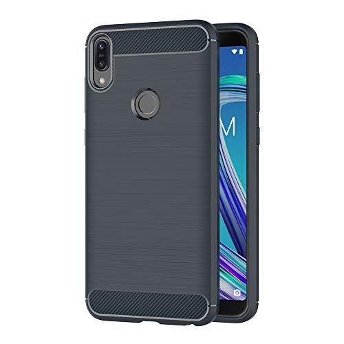 AICEK Cover Compatible ASUS Zenfone Max PRO (M1) ZB601KL, Blu Custodia ASUS ZB601KL Silicone Molle Blue Cover per Zenfone Max PRO (M1) ZB601KL Soft TPU Case (5.99 Pollici)