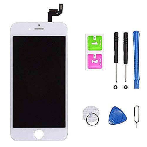 Hoonyer Pantalla para iPhone 6s Pantalla táctil LCD Kit de Pantalla de Repuesto Ensamblaje de Marco Digitalizador Herramienta de reemplazo de conversión Completa(4.7',Blanco)