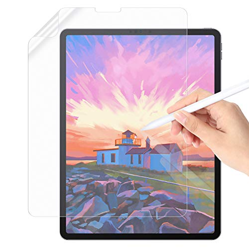 Paper Screen Protector Compatible with iPad Pro 12.9'(2018-2020), Write Like on Paper, Anti-glare Japan PET Full Cover Screen Film, Automatic Adsorption with No Bubbles, (Matte,12.9inch)
