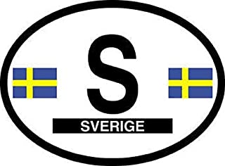 Flag It Sweden Oval Decal for auto, Truck or Boat