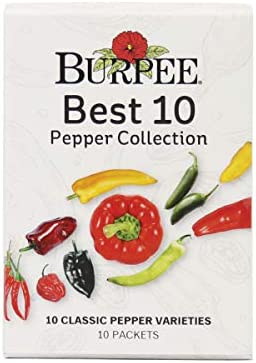 Burpee Best 10 Collection Ten Packets of Classic Pepper Seeds for Planting product image