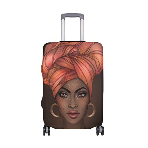 Luggage Cover African American Woman Elastic Suitcase Protector Fits 18-20 Inch