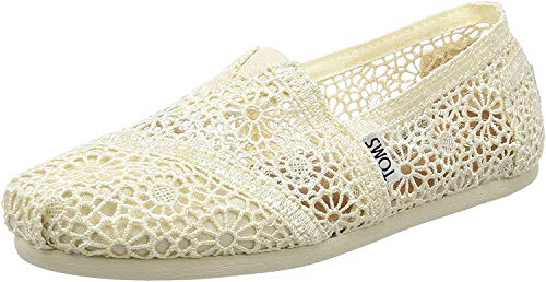 TOMS Damen Alpargata Espadrilles, Beige (Natural Moroccan Crochet 101), 37 EU