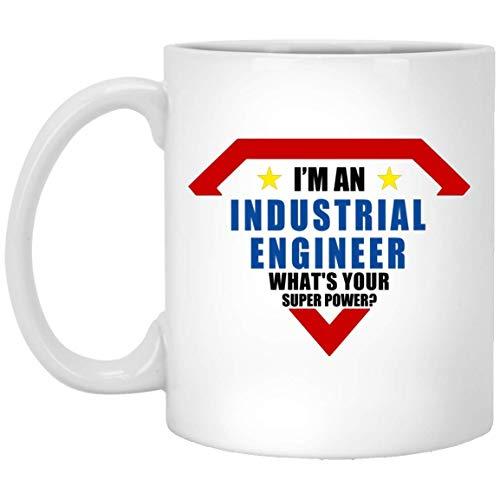 N\A Soy un Ingeniero Industrial. ¿Cuál es tu Superpotencia? Taza de café con Leche de 11 oz