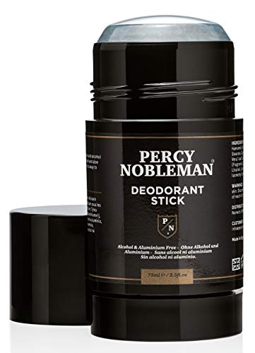 Percy Nobleman Natural Deodorant Stick - Signature Scented Men's Deodorant with Aloe Vera and Witch Hazel Blend. Aluminium Free 75ml