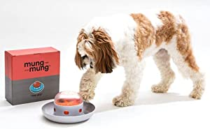 The UFO Interactive Push Food Treat Dispenser Bowl for Dogs & Cats for Fun Slow Feeding