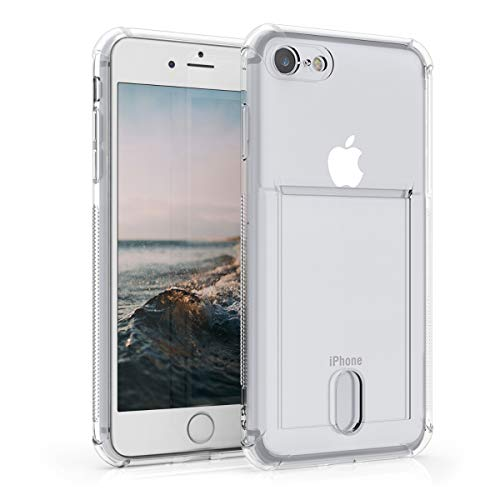 kwmobile Funda Compatible con Apple iPhone 7/8 / SE (2020) - Cover con Compartimento para Fotos Billetes Tarjetas - Transparente