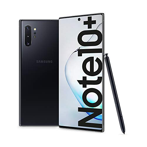 Samsung Galaxy Note10+ Smartphone, Display 6.8' Dynamic AMOLED, 256 GB Espandibili, SPen Air Action, RAM 12 GB, Batteria 4.300 mAh, 4G, Dual SIM, Android 9 Pie, [Versione Italiana], Aura Black