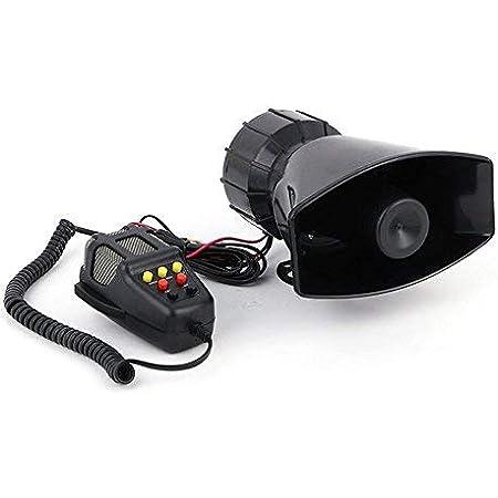 7 Ton Sound Hupen Signalhörner 125db Auto Sirene Fahrzeug Alarm Horn Mit Mikrofon Pa 12v 100w Notfall Warntöne Für Auto Motorrad Auto