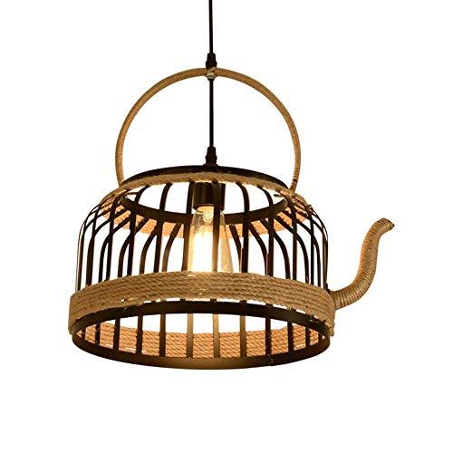 Plafondlamp hanglamp kroonluchter - Retro theepot creatief industriële theelicht persoonlijkheid touw van smeedijzer spin hanger binnenverlichting