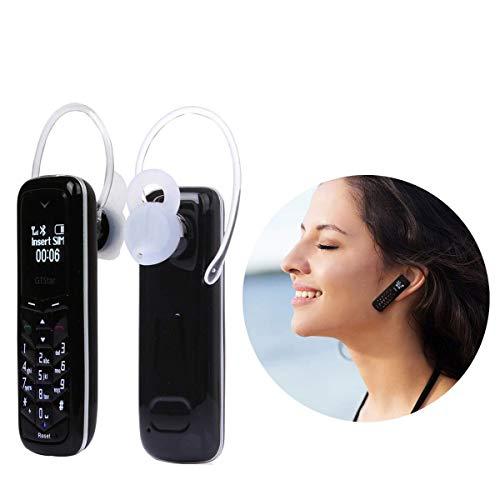 Sudroid Mini Cell Phones Unlocked Bluetooth- Tiny Phone World Smallest Mini Phone GSM Bluetooth Handset Mini Phone Bluetooth Dialer Supported Dual Sim Card BM50 (Black)