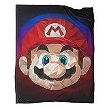 Xaviera Doherty Super Mario Game Comics Manta de forro polar súper suave 100 x 130 cm, suave y cómoda, para cama/sofá/sala/habitación/dormitorio,