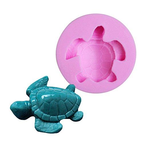 Beiersi Schildkröte Silikon Form für Fondant Marzipan Tortendeko Ausstecher Seife Dekoration Werkzeug (Stil 6)